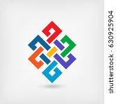 shrivatsa endless knot. vector... | Shutterstock .eps vector #630925904
