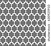 black and white endless knot... | Shutterstock .eps vector #630925910