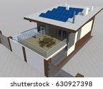 modern house 3d illustration