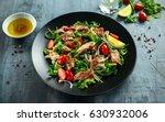 smoked mackerel salad with...   Shutterstock . vector #630932006
