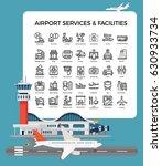cool vector airport terminal...   Shutterstock .eps vector #630933734