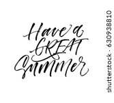 have a great summer card. ink... | Shutterstock .eps vector #630938810