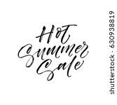 hot summer sale postcard. ink... | Shutterstock .eps vector #630938819