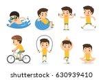 set of activities. sport and... | Shutterstock .eps vector #630939410