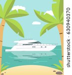 poster luxury the yacht at the... | Shutterstock .eps vector #630940370