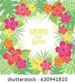 vector illustration hibiscus... | Shutterstock .eps vector #630941810