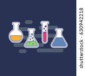 chemical tubes set. vector... | Shutterstock .eps vector #630942218