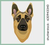 icon with sheepdog. vector... | Shutterstock .eps vector #630943340