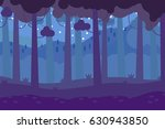dark forest background vector... | Shutterstock .eps vector #630943850