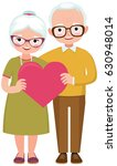 senior married couple of lovers ... | Shutterstock .eps vector #630948014