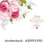 vector floral corner banner... | Shutterstock .eps vector #630951950