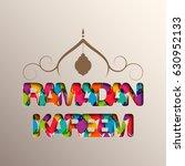 illustration of ramadan kareem... | Shutterstock .eps vector #630952133