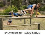 people jumping over the hurdles ... | Shutterstock . vector #630952823