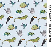 animals of south america vector ... | Shutterstock .eps vector #630953633