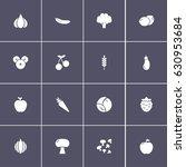 set of 16 vegetable icons | Shutterstock .eps vector #630953684