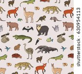 animals of south america vector ... | Shutterstock .eps vector #630954113