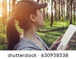 tourist searching for a right... | Shutterstock . vector #630958538