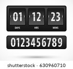 mechanical countdown timer... | Shutterstock .eps vector #630960710