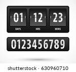 mechanical countdown timer...   Shutterstock .eps vector #630960710