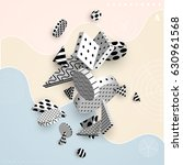 3d decorative elements with... | Shutterstock .eps vector #630961568