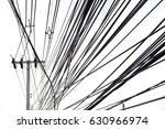 multiple wiring cables between... | Shutterstock . vector #630966974