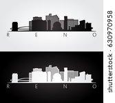 reno usa skyline and landmarks... | Shutterstock .eps vector #630970958