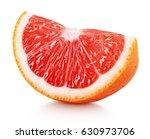 Ripe Slice Of Pink Grapefruit...