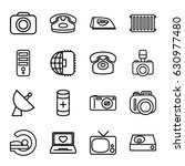 electronics icons set. set of... | Shutterstock .eps vector #630977480