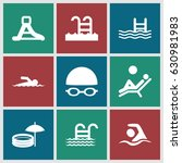 pool icons set. set of 9 pool... | Shutterstock .eps vector #630981983