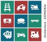 train icons set. set of 9 train ... | Shutterstock .eps vector #630982826