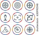 target icons set. set of 9...