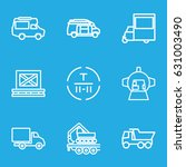 cargo icons set. set of 9 cargo ... | Shutterstock .eps vector #631003490