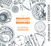 breakfasts and brunches top... | Shutterstock .eps vector #631004204