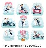 vector cartoon funny set... | Shutterstock .eps vector #631006286