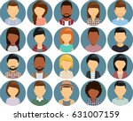 set of icons with young people... | Shutterstock .eps vector #631007159