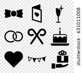 Celebration Icons Set. Set Of ...