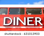 Diner Sign Panted N A Red...