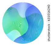 circle ripple abstract vector... | Shutterstock .eps vector #631016240