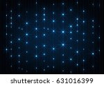 blue glow stars lines abstract... | Shutterstock .eps vector #631016399
