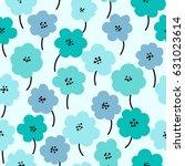 spring flowers seamless pattern ... | Shutterstock .eps vector #631023614