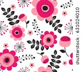 Stock vector spring flowers seamless pattern small floral pattern floral illustration and floral vector pattern 631024010