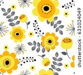 spring flowers seamless pattern ...   Shutterstock .eps vector #631024049
