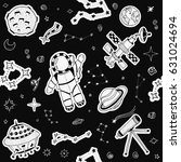 seamless pattern of space... | Shutterstock .eps vector #631024694