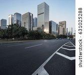 asphalt pavement urban road at... | Shutterstock . vector #631025288