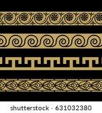 greek ornament. patterns in... | Shutterstock .eps vector #631032380