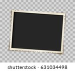 empty vintage paper photo frame ... | Shutterstock .eps vector #631034498