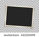 empty vintage paper photo frame ... | Shutterstock .eps vector #631034498