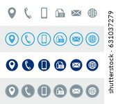 vector contact information icons
