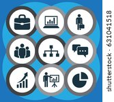 business icons set. collection... | Shutterstock .eps vector #631041518