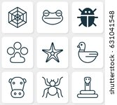 nature icons set. collection of ... | Shutterstock .eps vector #631041548